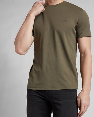 Express Solid Essential Crew Neck T-Shirt