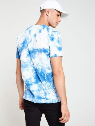 Very Paradise Tie Dye T-Shirt - Blue/White