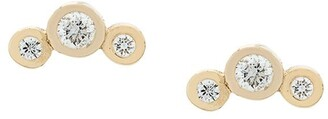 Zoë Chicco 14kt Yellow Gold Diamond Trio Studs