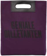 Robert Geller Purple 'Geniale Dilletanten' Record Tote