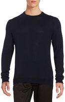 Black Brown 1826 Solid Crewneck Sweater