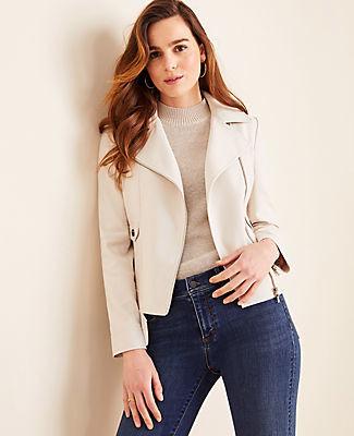 Ann Taylor Petite Moto Jacket
