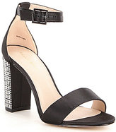 Pelle Moda Bonnie3 Stone Embellished Block Heel Dress Sandals