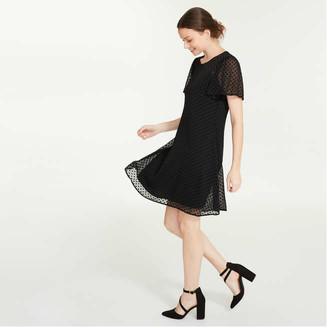 Joe Fresh Women's Chiffon Tee Dress, JF Black (Size M)