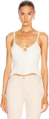 Jonathan Simkhai Maya Rib Ring Tank Top in White | FWRD