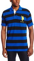 U.S. Polo Assn. Men's Striped Polo Shirt with Big Pony Logo