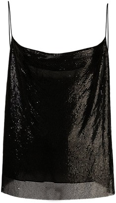 Alice + Olivia Sequinned Cowl-Neck Top
