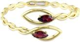 Catherine Malandrino 18k Yellow Gold Plated Braided Bypass Open Cuff Bracelet.
