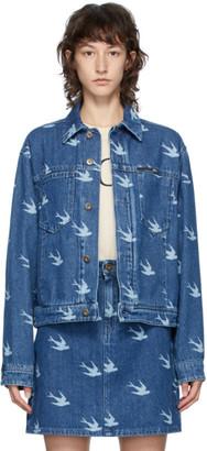 McQ Blue Denim Koriki Swallows Jacket