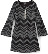 Amy Byer Gray Zigzag Shift Dress - Girls
