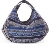 Toms Black Stripe Tribal Sequoia Hobo Bag