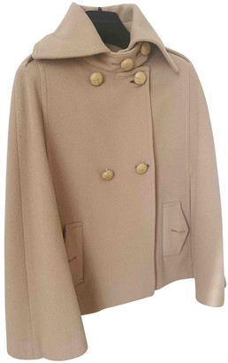 Patrizia Pepe Camel Wool Coat for Women