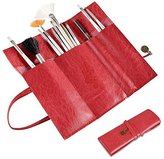 Everydaysource® Pen Pencil Brush Cosmetic Storage Bag Pouch Container Vintage Leather Roll Case