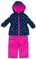 Pink Platinum Girls 4-6x Heavyweight Star Print Jacket & Solid Bib Snow Pants Set
