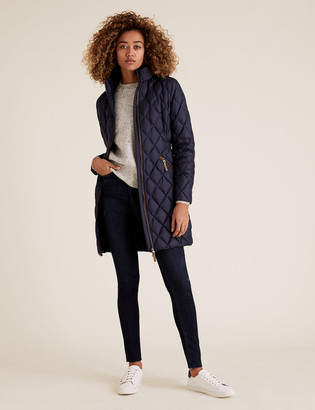 Marks and Spencer Feather & Down Quilted Puffer Coat