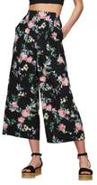 Miss Selfridge Floral Cropped Wide-Leg Trousers
