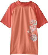 Kanu Surf Big Girls' Peace and Love Rashguards
