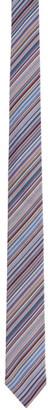 Paul Smith and Multicolor Silk Striped Narrow Tie