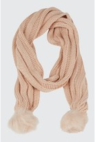 Select Fashion POM KNITTED SCARF - size One
