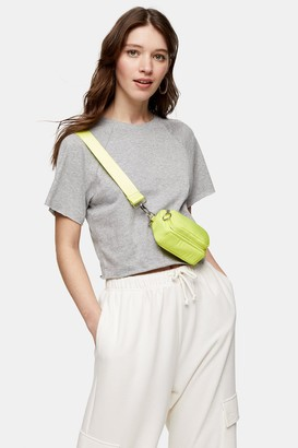 Topshop Gray Raglan Crop T-Shirt