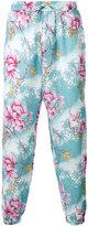 Etro tropical print trousers - men - Linen/Flax - 50