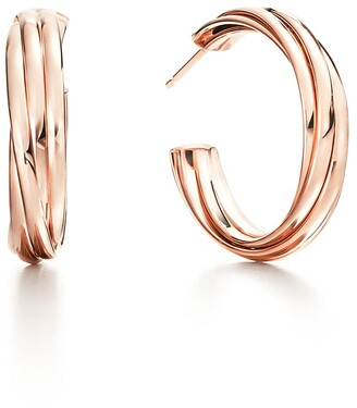Tiffany & Co. Paloma's Melody hoop earrings in 18k rose gold, small