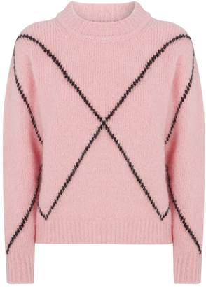 Sandro Cross Mohair-Blend Sweater