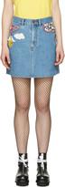 Marc Jacobs Indigo Denim Embroidered Miniskirt