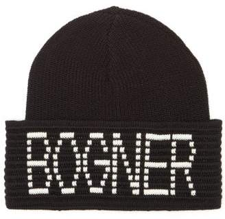 Bogner Joris Logo-intarsia Wool-blend Beanie - Womens - Black