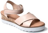 Nicole Miller Magaine Cross Strap White Sole Wedge Sandal