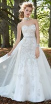 Camille La Vie Strapless Beaded Lace Tulle Overskirt Wedding Dress