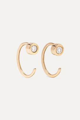 Melissa Joy Manning 14-karat Gold Diamond Earrings - one size
