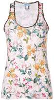 Blumarine sleeveless floral top