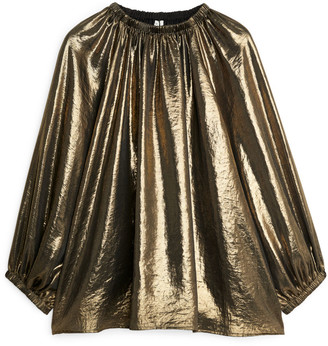 Arket Metallic Blouse