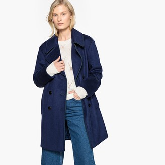 La Redoute Collections Military Wool Mix Pea Coat