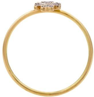 Loquet 14kt Gold Diamond Four Leaf Clover Ring