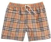 Burberry Galvin Check Swim Trunks