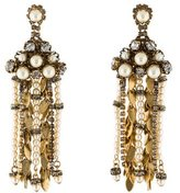 Erickson Beamon Aerin Crystal & Faux Pearl Chandelier Earrings
