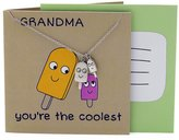 Quan Jewelry Great Grandma Gifts, Grandmother Necklace, Funny Quotes on Greeting Card