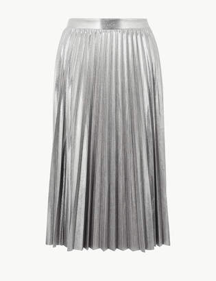 M&S CollectionMarks and Spencer Metallic Jersey Pleated Skirt