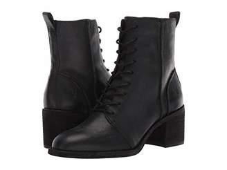 Frye Monroe Seamed Lace-Up (Black) Women's Boots