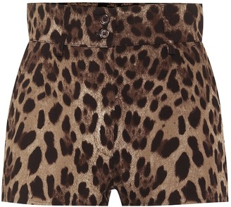 Dolce & Gabbana Leopard stretch-cotton shorts