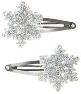 Crazy 8 Sparkle Snowflake Barrettes 2-Pack