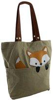 Zeckos Sleepyville Critters Peeking Fox Canvas Tote Bag