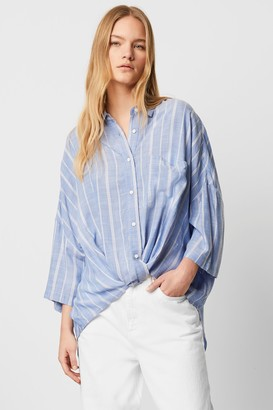 French Connection Twist Front Stripe Shirt