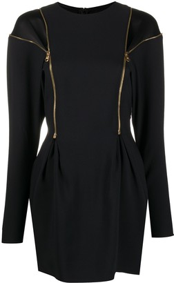 Versace Zip-Detail Fitted Mini Dress