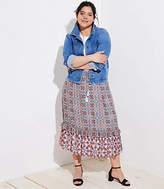 LOFT Plus Boho Mosaic Midi Skirt