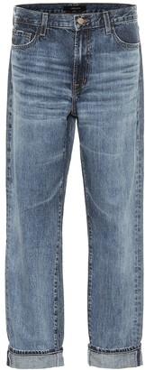 J Brand Tate mid-rise boyfriend jeans