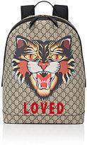 Gucci Men's Cat-Print GG Supreme Backpack