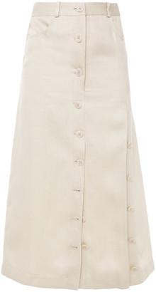 Altuzarra Linen Midi Skirt